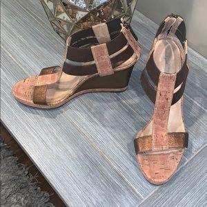 Donald J Pliner High Heel Wedges/Sandals Size 8.5